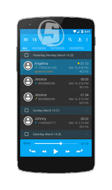Call recorder Full 3.0.3 ضبط مکالمات در اندروید Call%20recorder%20Full_Shot6