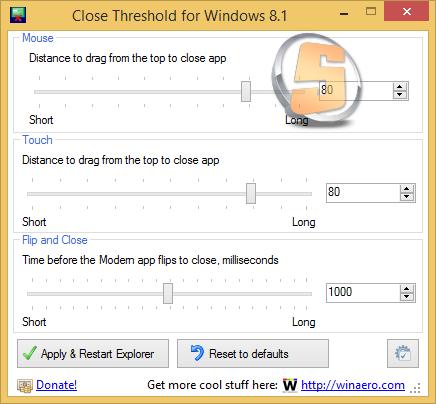 Close Threshold for Windows